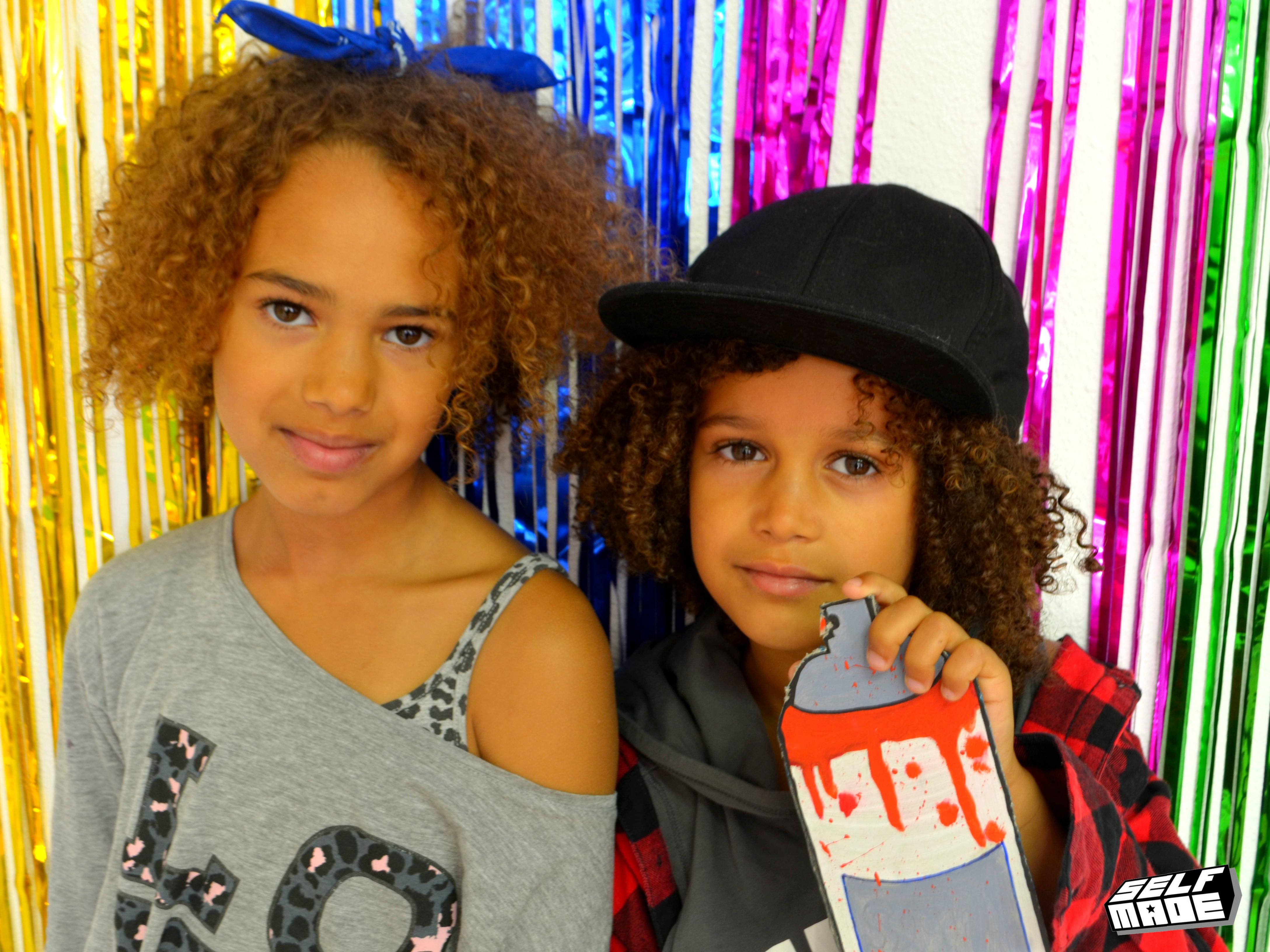 Hiphop kinderen spuitbus